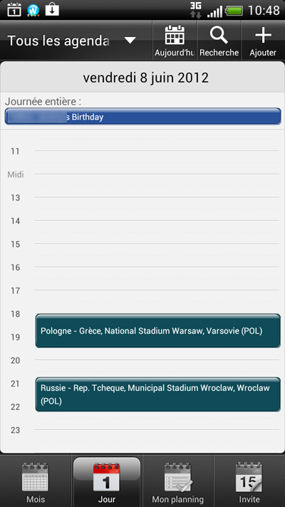 Bcalendar de l'Euro 2012 de Football - Tous les matchs, tous les résultats